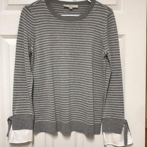 NWOT LOFT Striped Sweater